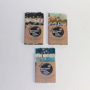 Organic Beeswax Wrap Starter Pack – Set of 3