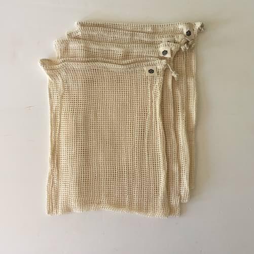 Ever Eco Organic Cotton Net Set of 4 Produce Bags