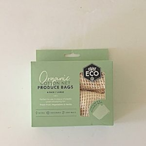 Ever Eco Organic Cotton Net Set of 4 Produce Bags