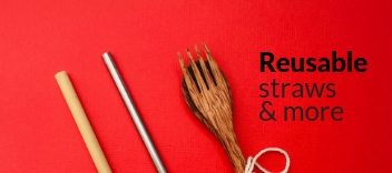 reusable straws and cutlery