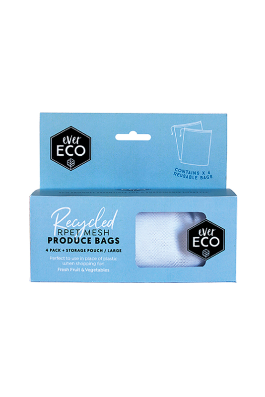 Ever Eco Reusable Produce Bags RPET Mesh 4 Pack