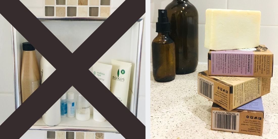 choose a shampoo bar rather than a bottle