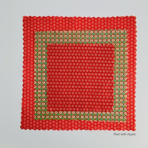 Oeko-Tex Confidence in Textiles Beeswax Wraps Starter Pack – Red with Apple