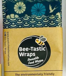 Oeko-Tex Confidence in Textiles Beeswax Wraps Starter Pack – Japanese Flower and Wave