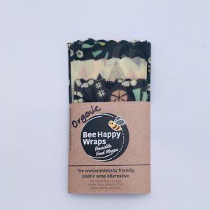 Organic Beeswax Wrap Starter Pack – Night Garden