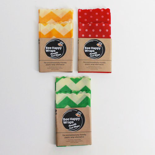 Twin Medium Pack – Washed Cotton Beeswax Wraps