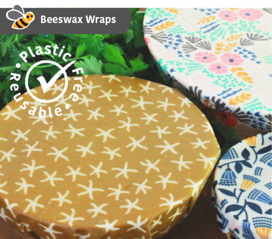 Organic Beeswax Wrap Starter Pack – Set of 3