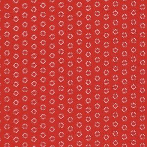 Red mini flower (Oeko-Tex fabric)