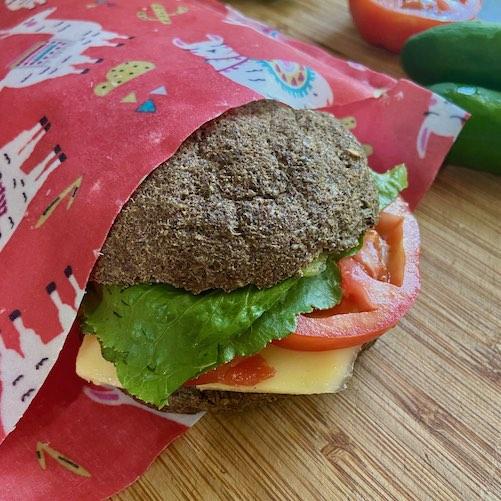 a plastic free sandwich bag