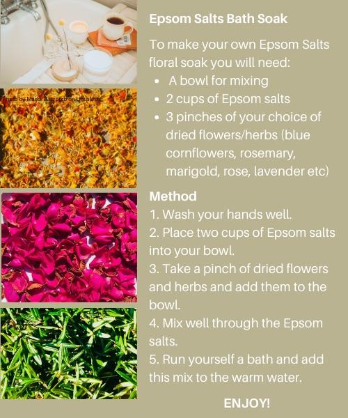Epsom salts floral soak
