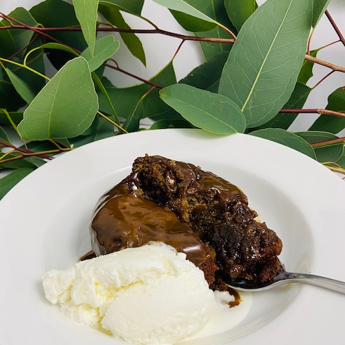 Vegan sticky date pudding, gluten free