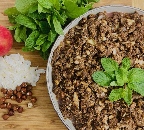 recipe for rhubarb and apple crumble