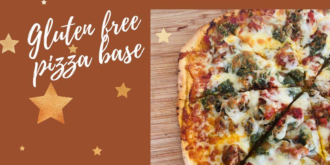 Cassava flour gluten free pizza base
