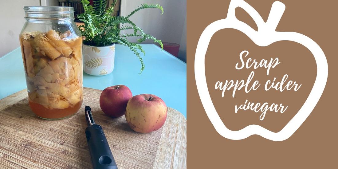 Scrap apple cider vinegar