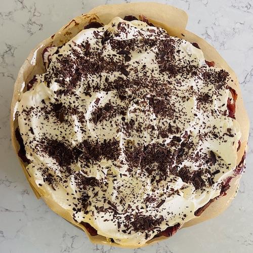 cherry and hazelnut torte